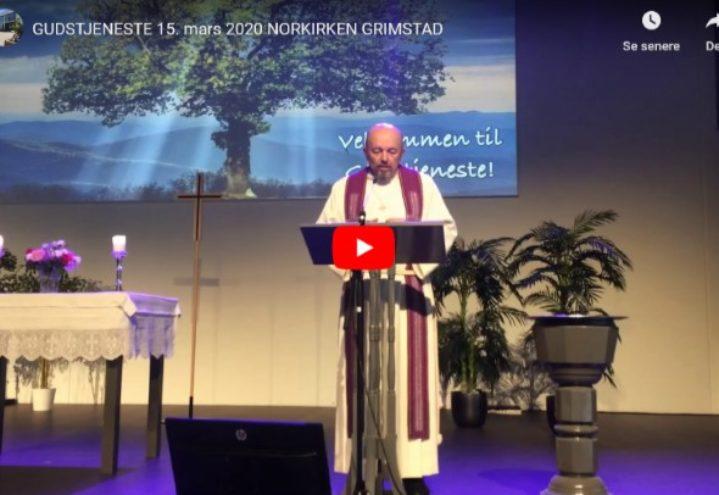 """Se """"digital-gudstjeneste"""" fra Norkirken Grimstad"""